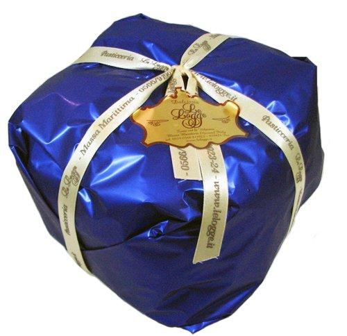 Le Logge Panettone Basso Blue Foil Wrapped 1 Kilogram Italian Christmas Cake