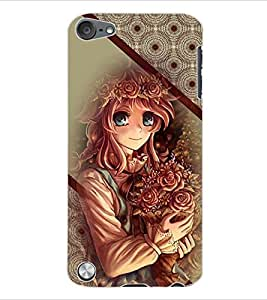 ColourCraft Beautiful Girl Back Case Cover for APPLE IPOD TOUCH 5