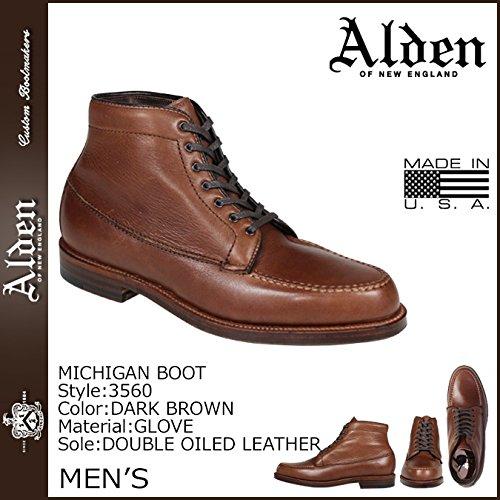 (オールデン) ALDEN ミシガン ブーツ MICHIGAN BOOT Dワイズ MADE IN USA レザー メンズ 3560 ダークブラウン (並行輸入品)