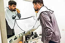 Beard apron for clean shaving ! keep your sink, bathroom and car clean with goodone beard catcher apron !