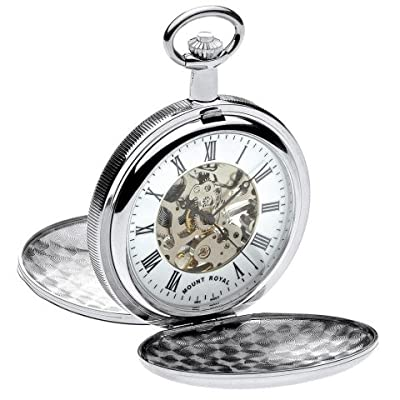 Mount Royal Pocket Watch B28 Chrome Plated Double Hunter
