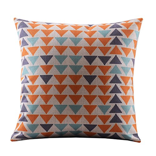 Small Square Decorative Pillows : Create For-Life Cotton Linen Decorative Pillowcase Throw Pillow Cushion Cover Square 18