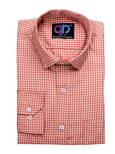 Formals-by-Koolpals-Cotton-Blend-SQUARES-RED-AND-CREAM-Shirt