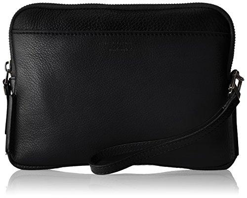 Piquadro Pochette Collezione Sirio Borsetta da polso, Pelle, Nero, 22 cm