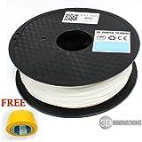 3D Innovations 3D Printer Filament (1 Kg, PLA, White,1.75 Mm Dia.) + FREE Masking Tape Worth ₹ 380 For 3D Printer...