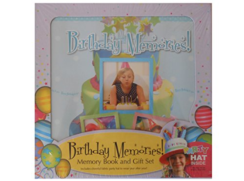 Spice Box Birthday Memories! Birthday Memory Book & Gift Set W/Party Hat New Nib - 1