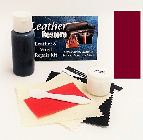 Leather Repair Kit with READY TO USE Color, BURGUNDY (Faux Leather Furniture Repair Kit compare prices)