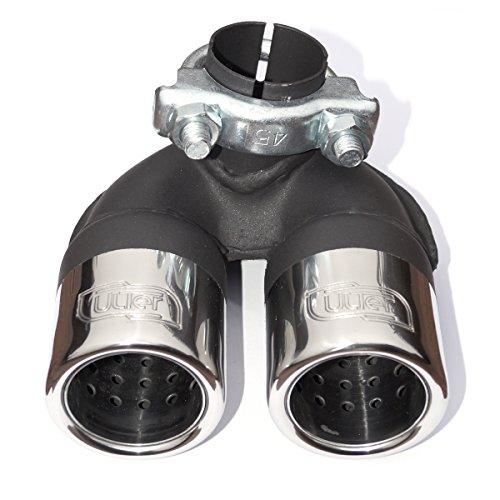 doppelendrohr-2-x-60-mmauspuffblende-aus-edelstahlsportauspuff-mit-absorber-aus-edelstahlmit-abe-eit