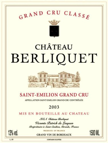 2003 Château Berliquet Saint-Émilion Grand Cru 750 Ml