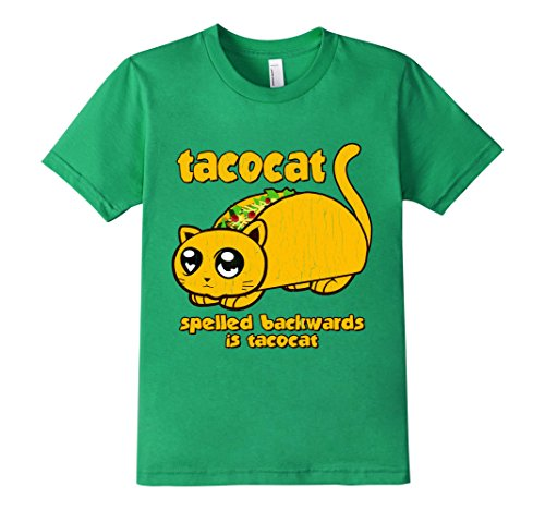 Kids Tacocat Cat Taco T Shirt Shell Flying Space Adult Top Spelle 12 Kelly Green (Taco Cat Space Shirt compare prices)