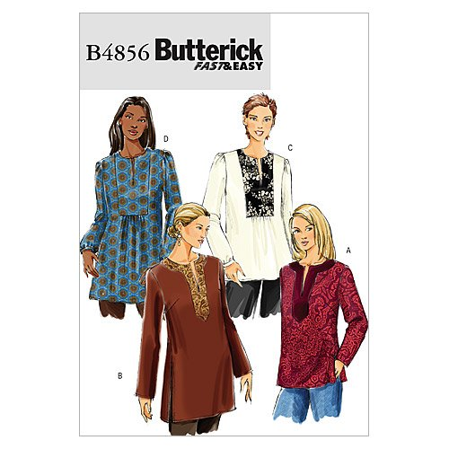 Butterick Patterns B4856 Misses' Top and Tunic, Size Y (XSM-SML-MED)