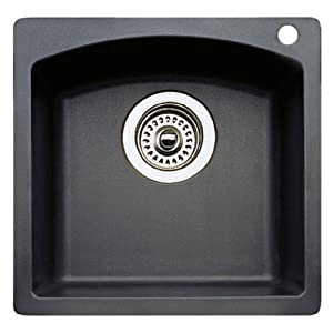 Blanco 511-637 Diamond 15-Inch-by-15-Inch Bar Sink, Anthracite Finish