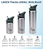 Laken Jannu Vacuum Insulated Stainless Steel Water Bottle with Straw Cap and Handle 25oz Red