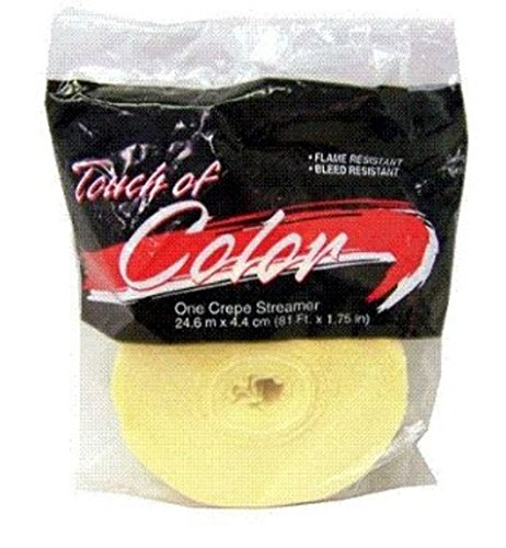 2 Pack Touch Of Class IVORY Crepe Party Streamers