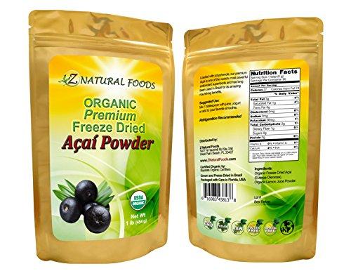 Acai Berry Powder Premium - Organic Freeze Dried (1 lb) (Organic Freeze Dried Acai Powder compare prices)