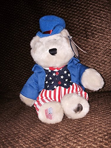 "2002 Starbucks Bearista 10"" Plush 4th of July Bear - 1"