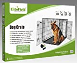 "EliteField 48"" Two Door Folding Dog Crate, 48"" Long X 30"" Wide X 32"" High"