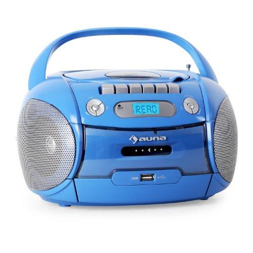 Auna Boomboy boombox radio registratore USB MP3 azzurro