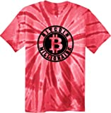 Bitcoin Millionaire Tie Dye T-Shirt Large Red