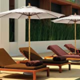 FiberBuilt Guadua 9-ft. Fiber Teak Contract Patio Umbrella