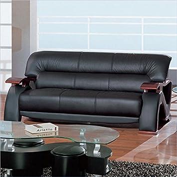 Contemporary Sofa in Black Finish