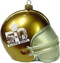 Team Sports America Super Bowl 50 Gold Glass Helmet Ornament