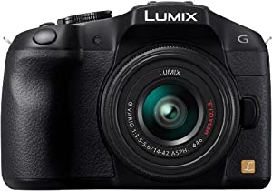 Panasonic Lumix G Series DMC-G6KK Compact System Digital Camera with 14-42mm II Lens Kit (Black)