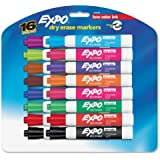 (2 Packs)Expo 2 Low-Odor Dry Erase Markers, Chisel Tip, 16-Pack, Assorted Colors (81045)