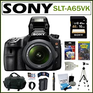 Sony DSLR Alpha SLT-A65VK 24.3MP DSLR Camera With 18-55MM Lens 16GB Kit