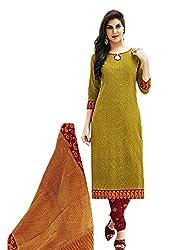 Aarvi Women's Cotton Unstiched Dress Material Multicolor -CV00150