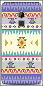 Snoogg Aztec Pattern Purple Designer Protective Back Case Cover For HTC One-Max