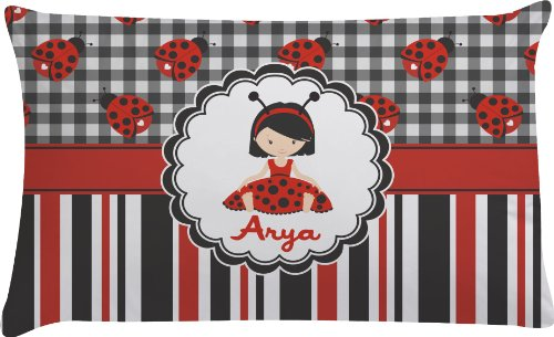 Ladybugs & Stripes Personalized Pillow Case - Toddler front-690909