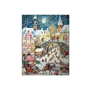 Large Santa and Skaters Advent Calendar
