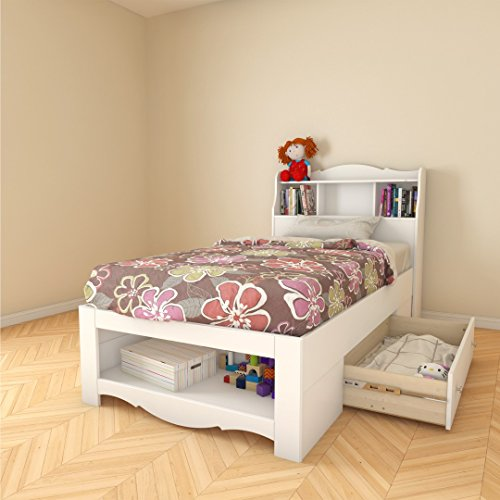 Nexera 317903 1 drawer twin size storage bed white best deals toys Best deal on twin mattress