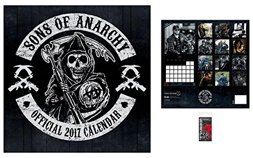 Set: Sons Of Anarchy, Calendario Ufficiale 2017 (30x30 cm) E 1x Portachiave (6x4 cm)