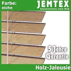 27 mm Holzjalousie  Farbe Eiche  (BxH) 120 x 130 cm.  BaumarktKundenberichte und weitere Informationen