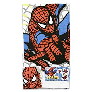 Marvel Spider-Man Towel Set - 2-Piece Spiderman Bath Set