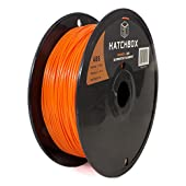 HATCHBOX 1.75mm Orange ABS 3D Printer Filament - 1kg Spool (2.2 lbs) - Dimensional Accuracy +/- 0.05mm