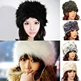 FUNOC New Ladies Womens Mens Faux Animal Fur Winter Ski Russian Cossack Hat Headband