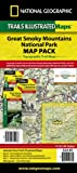 National Geographic Maps Great Smoky Mountains National Park, Map Pack Bundle Trails Illustrated National Parks