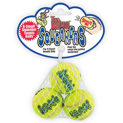 KONG Squeaker Tennis Balls Dog Toy, 3-Pack