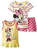 Disney Baby Girls'' 3 Piece Minnie Mouse Short Set