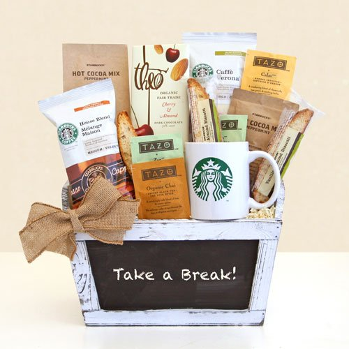 """Take a Break!"" Starbucks Gourmet Coffee & Tazo Tea Gift Basket 