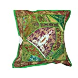 Touch of Magic Vintage Sari Decorative Floor Pillow Cushion Coversby Mogulinterior