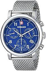 Wenger Men's 01.1043.101 Urban Classic Chrono Analog Display Swiss Quartz Silver Watch