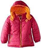 Pink Platinum Toddler 2-4T Girls Berry Solid Contrast Zipper Winter Jacket/Coat