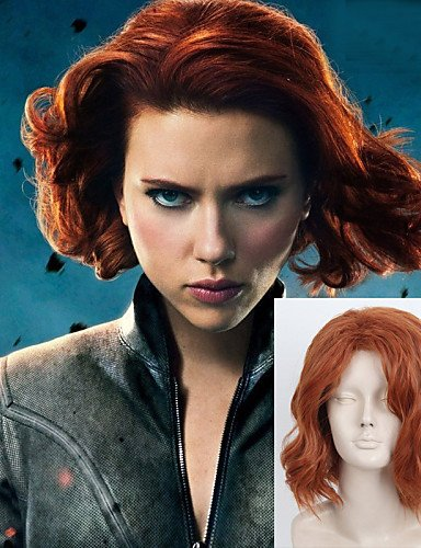 Wigs have an attractive convenience fashion The X-Men Black Widow Natasha Cos Wig Europe And The United States Cos Halloween Wig (Xmen Fancy Dress)