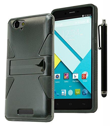 BLU Studio Energy D810L Phone Case, Bastex Heavy Duty Hybrid Fused Black Dynamic Design Case with Kickstand for BLU Studio Energy D810L**INCLUDES STYLUS** (Blu Energy Studio Case compare prices)