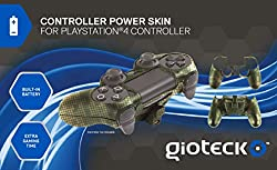 Gioteck Controller Skin Plus Camo With Built In Battery Play Station 4