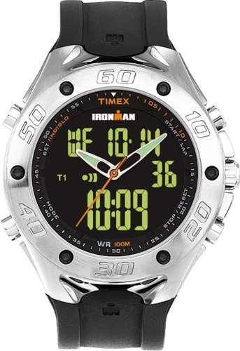 Timex Mens Ironman Triathlon 42-Lap Combo Analog Digital Dress Watch  T56381